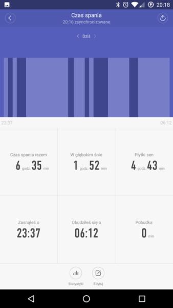 Mifit - Monitoring snu