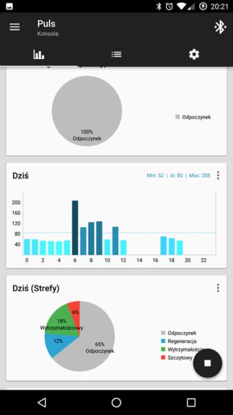 MiBandTools - Aktywność zpomiarem tętna